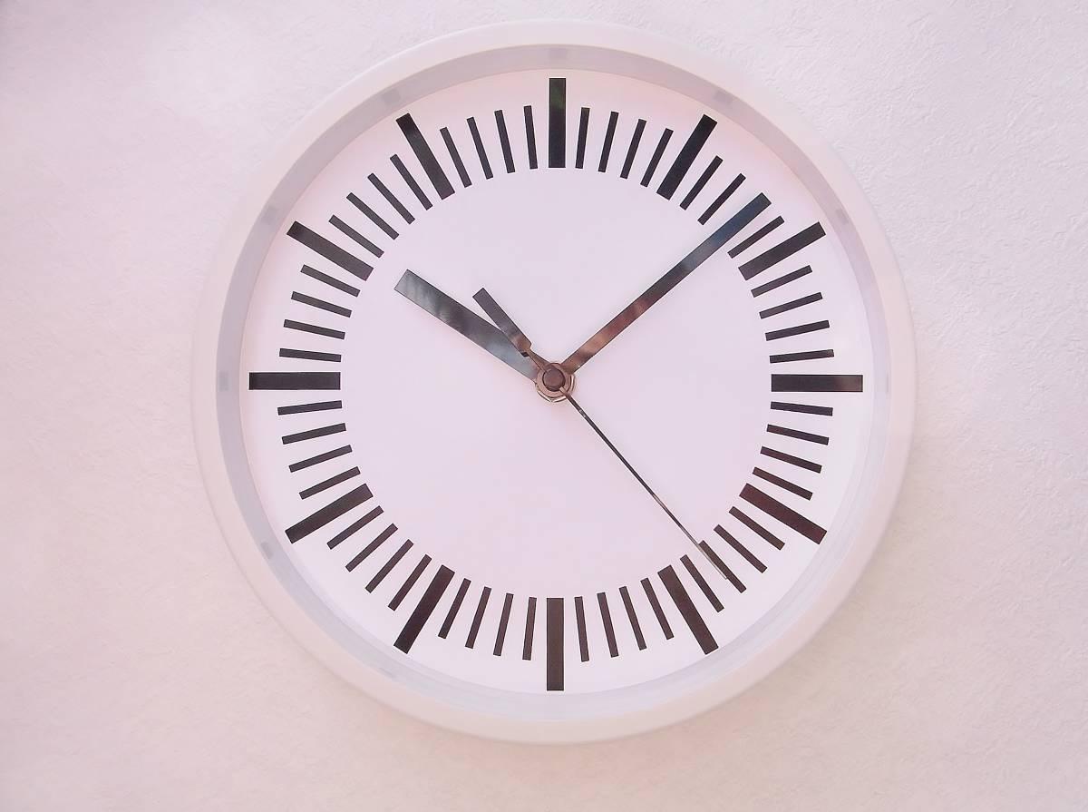 【新品送料無料】TOKYO CLOCK シンプル掛け時計【tacitus タキトゥス ホワイト】_画像1