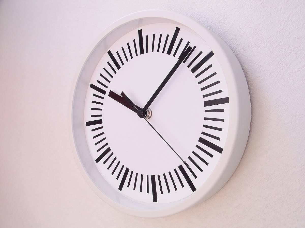 【新品送料無料】TOKYO CLOCK シンプル掛け時計【tacitus タキトゥス ホワイト】_画像2