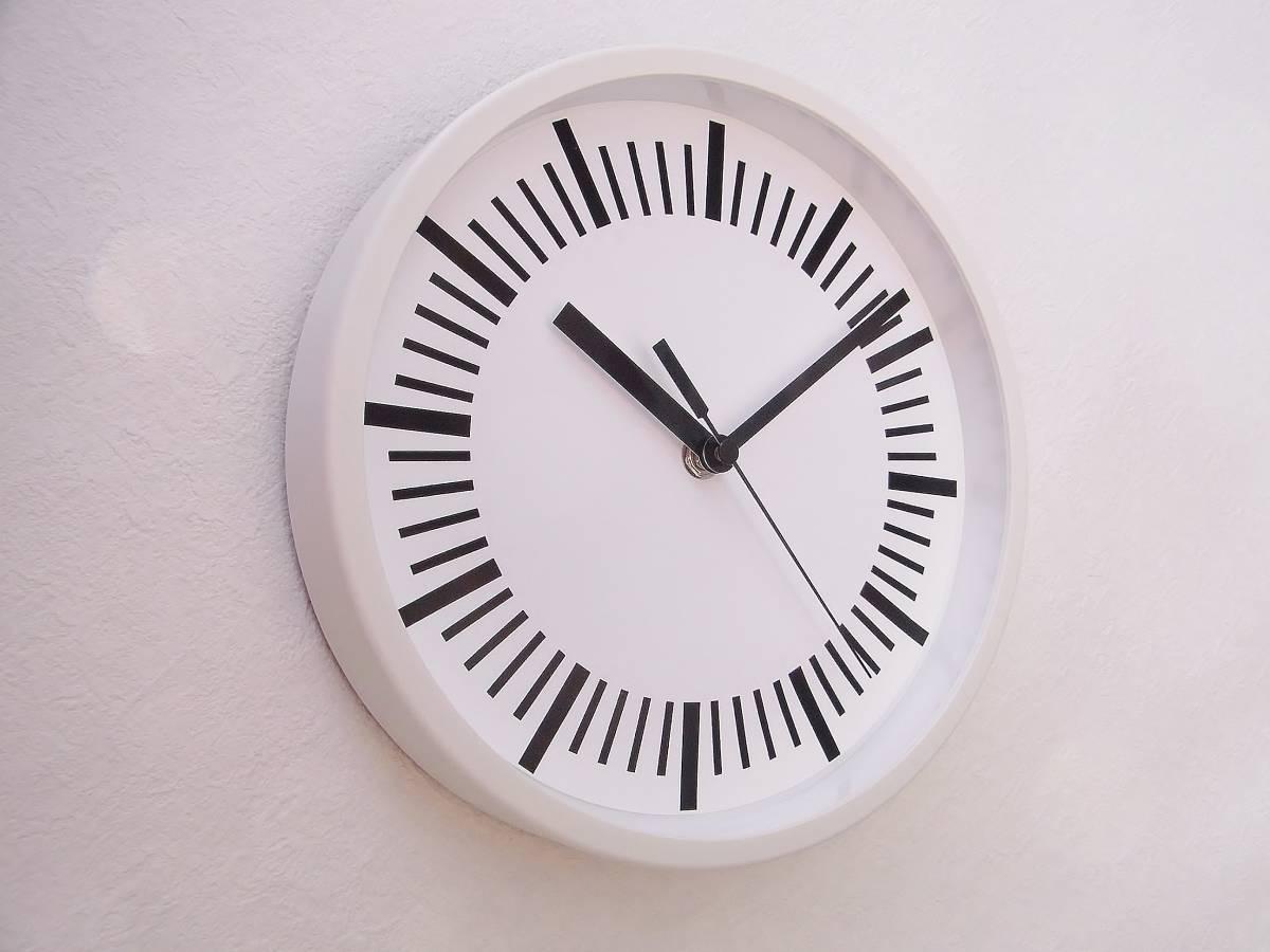 【新品送料無料】TOKYO CLOCK シンプル掛け時計【tacitus タキトゥス ホワイト】_画像3