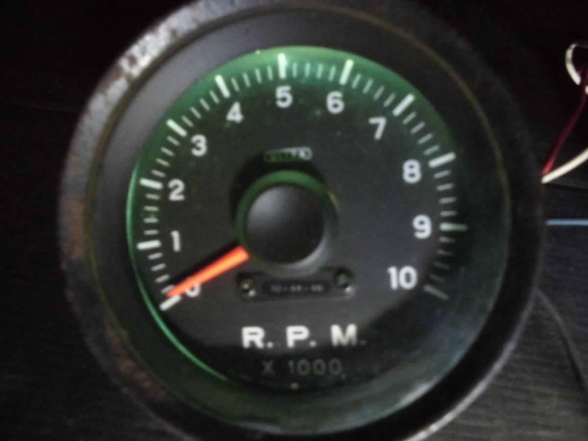 激レア 当時物 旧ロゴ ウルトラ 永井電子 タコメーター ULTRA 4気筒 FJ1600 10000RPM 80Φ 1万回転 旧車 族車 6気筒 _画像8