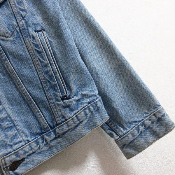 LEVIS リーバイス 70506 USAアメリカ製 ヴィンテージ古着 メンズM 青 ブルー デニムジャケット ジージャン Gジャン アウター 即決/B18_画像4