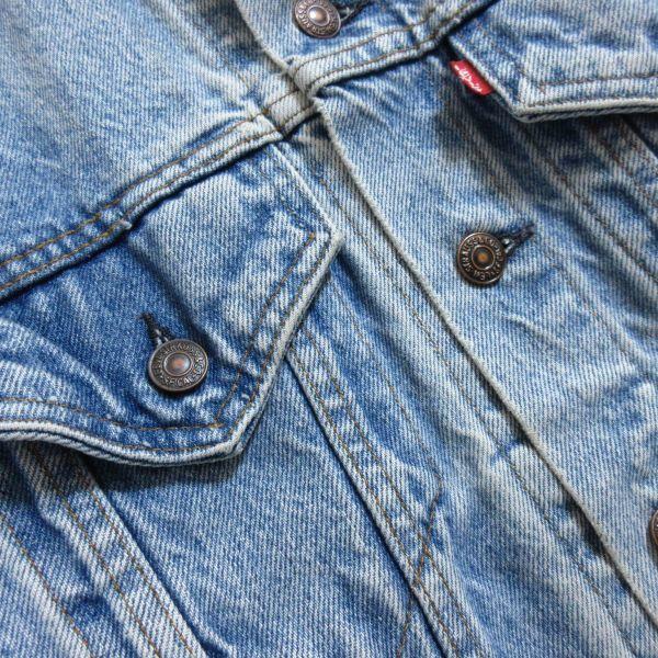 LEVIS リーバイス 70506 USAアメリカ製 ヴィンテージ古着 メンズM 青 ブルー デニムジャケット ジージャン Gジャン アウター 即決/B18_画像3