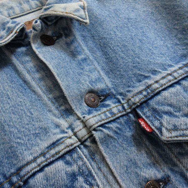 LEVIS リーバイス 70506 USAアメリカ製 ヴィンテージ古着 メンズM 青 ブルー デニムジャケット ジージャン Gジャン アウター 即決/B18_画像5