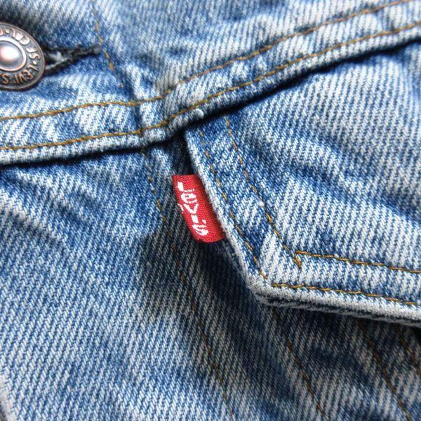 LEVIS リーバイス 70506 USAアメリカ製 ヴィンテージ古着 メンズM 青 ブルー デニムジャケット ジージャン Gジャン アウター 即決/B18_画像2