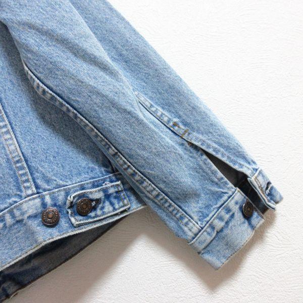 LEVIS リーバイス 70506 USAアメリカ製 ヴィンテージ古着 メンズM 青 ブルー デニムジャケット ジージャン Gジャン アウター 即決/B18_画像7