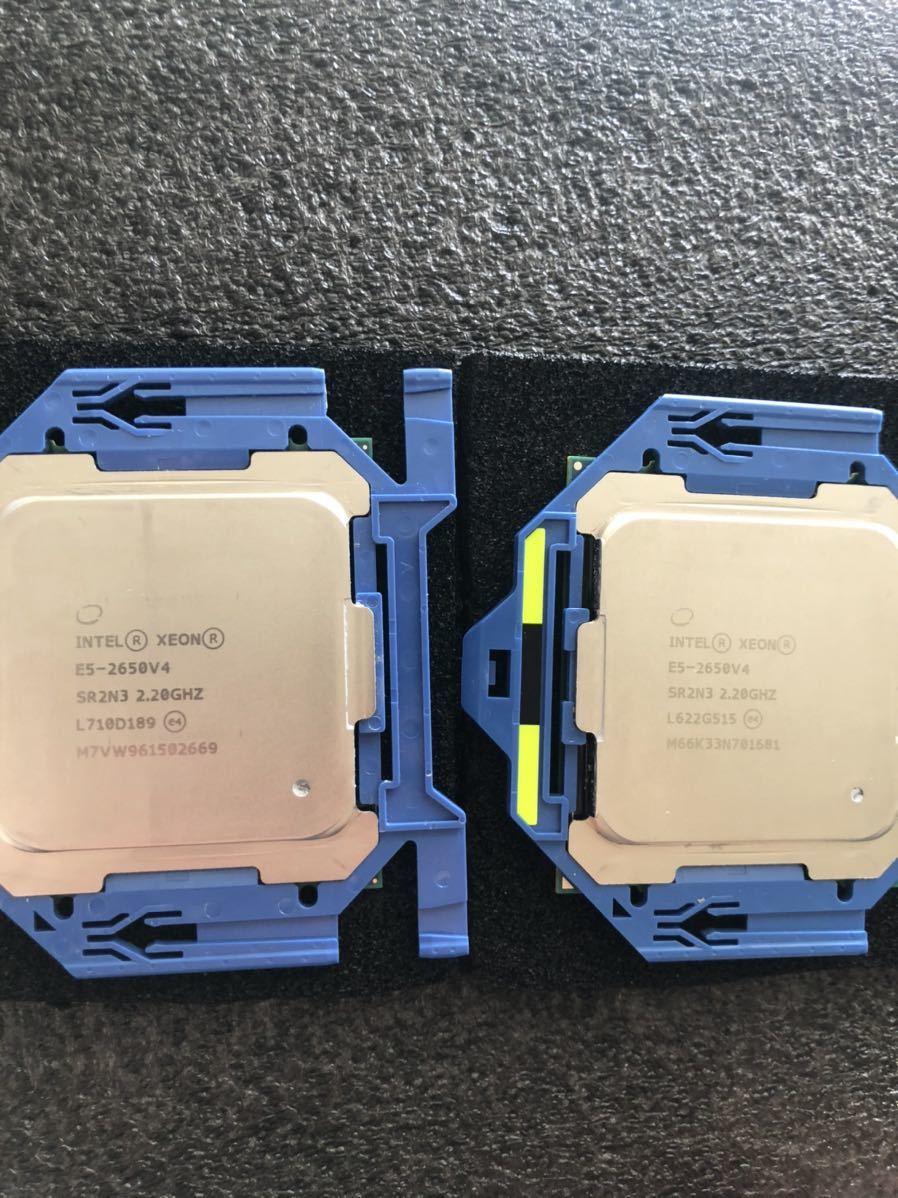 Intel CPU XEON E5-2650v4 2.2GHz 12C24T Broadwell 正規品 動作確認済み LGA2011_画像1