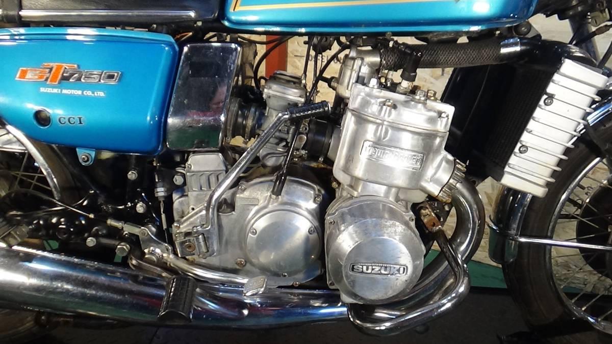 「SUZUKI GT750 昭和51年 1976年 旧車 GT 希少 スズキ」の画像2