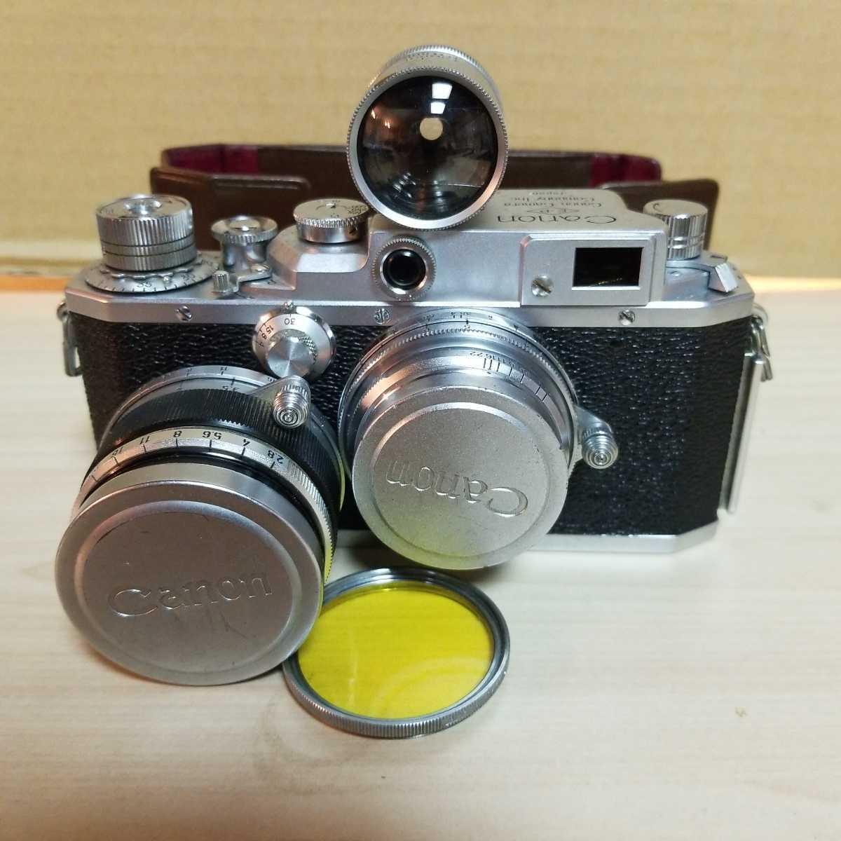1344 キャノン Canon Camera Company Inc.レンジファインダー  35mm 28mm レンズ2本セット