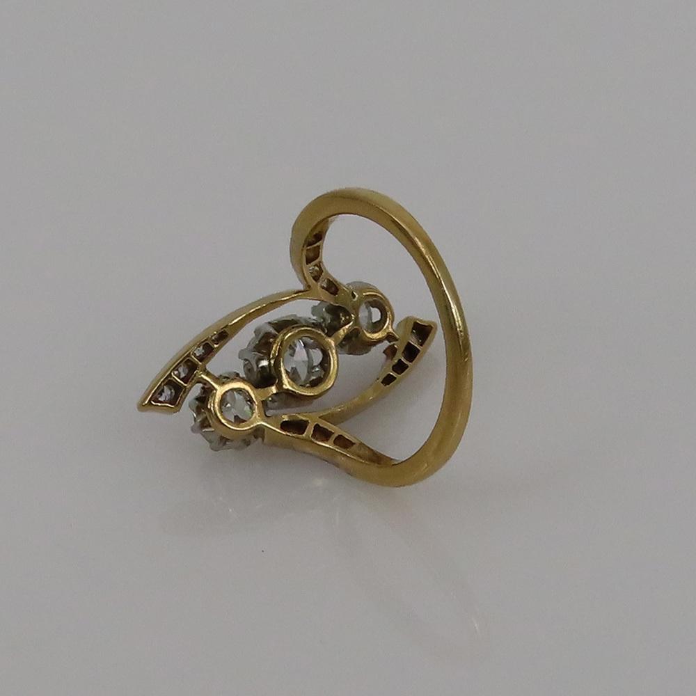 アンティーク◆オールドマイン・カット《1.75ct ダイヤモンド》プラチナ・K18・リング指輪_画像3