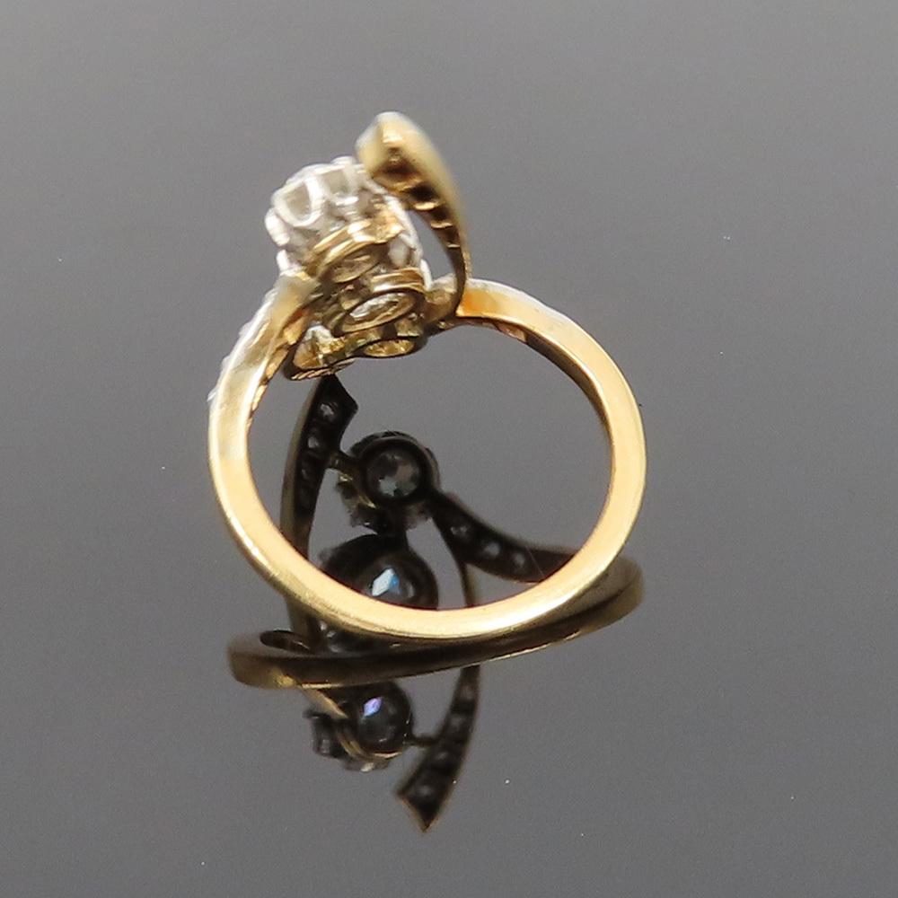 アンティーク◆オールドマイン・カット《1.75ct ダイヤモンド》プラチナ・K18・リング指輪_画像10
