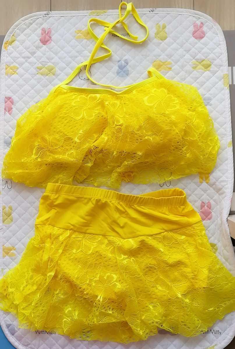 かわいい水着 2点セット 黄色