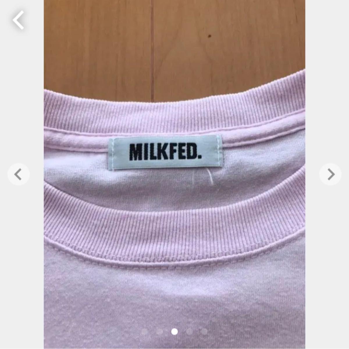 ミルクフェド  半袖Tシャツ ベビーピンク