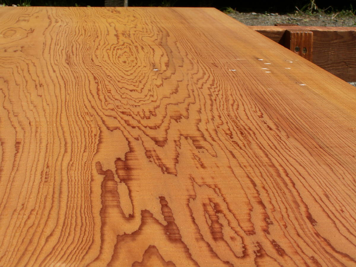希少 屋久杉 独特な木目 巾広 腰板 世界遺産 E436_画像5