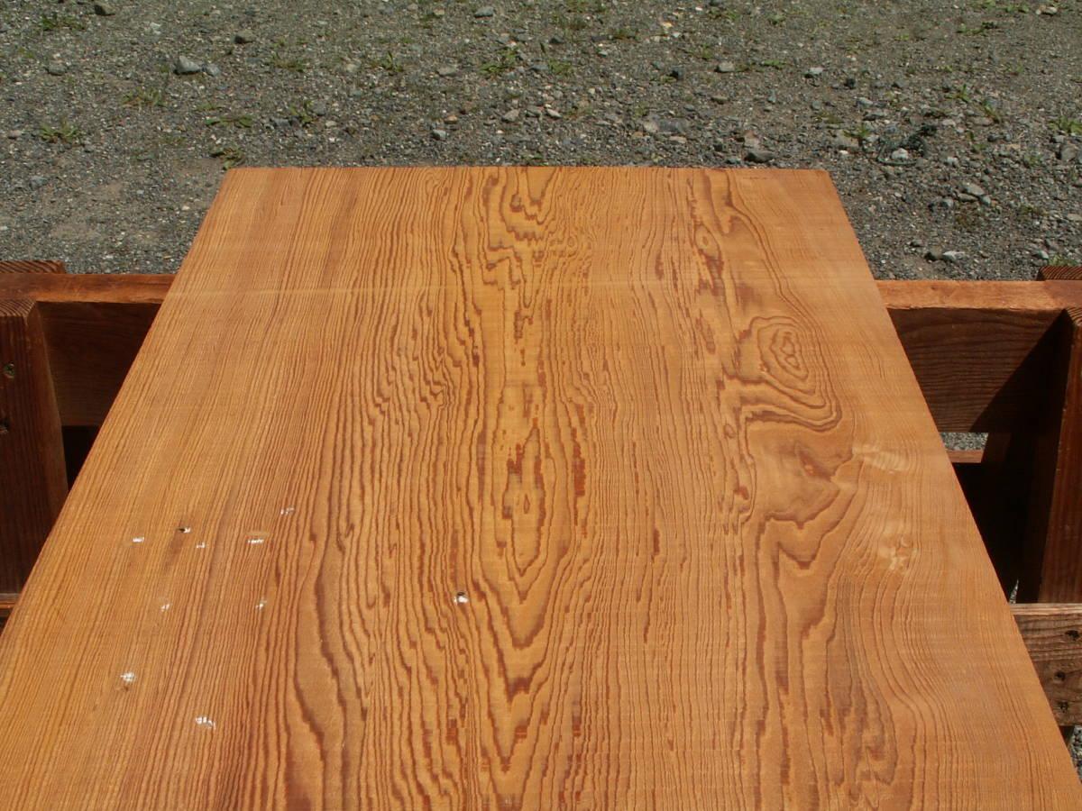 希少 屋久杉 独特な木目 巾広 腰板 世界遺産 E436_うら面