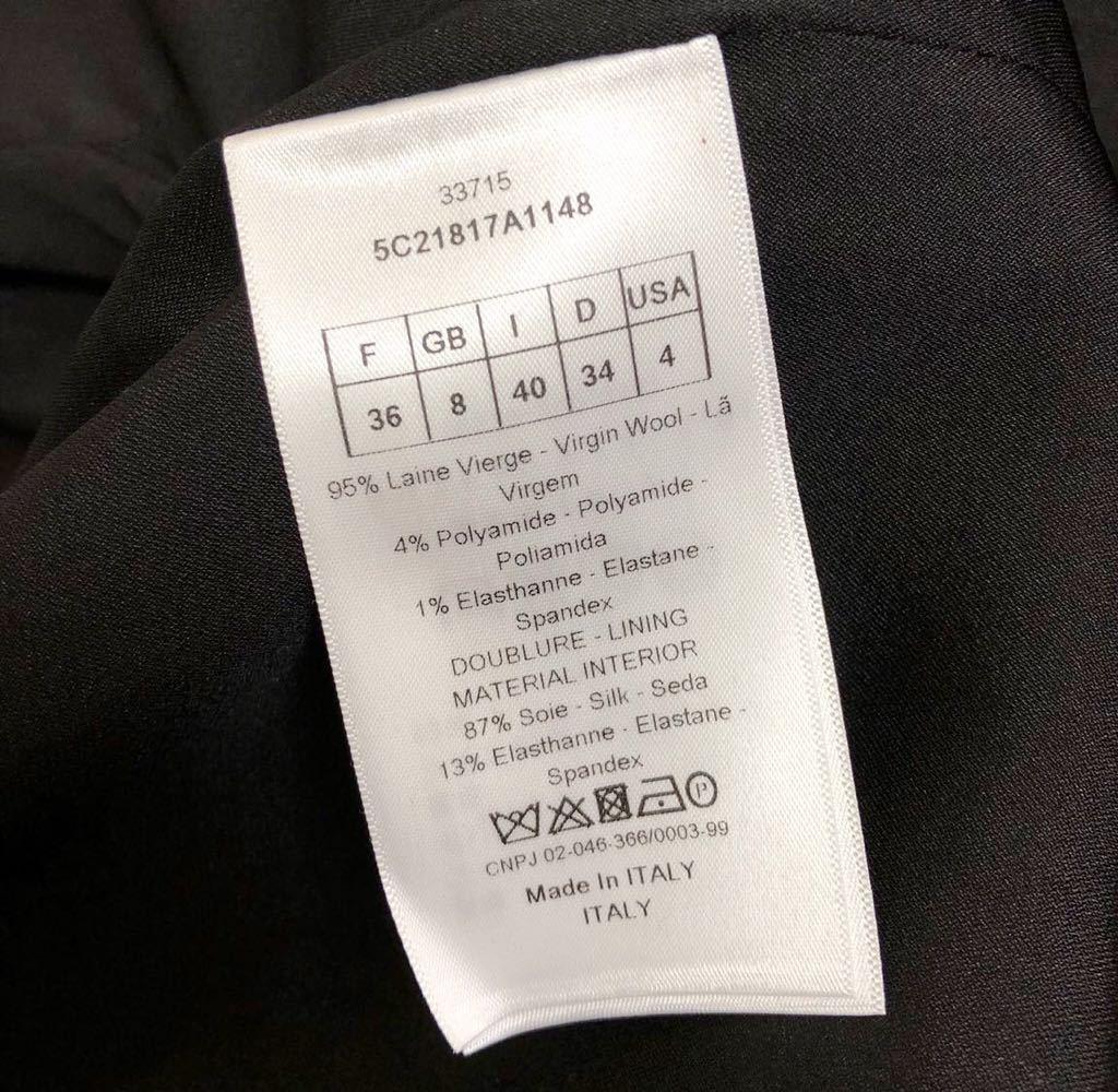 Christian Dior ディオール ストレッチ ウール チェスター ロング コート 裏地シルク 通年素材 size40 S~M位 黒 イタリア製 国内正規品_画像9