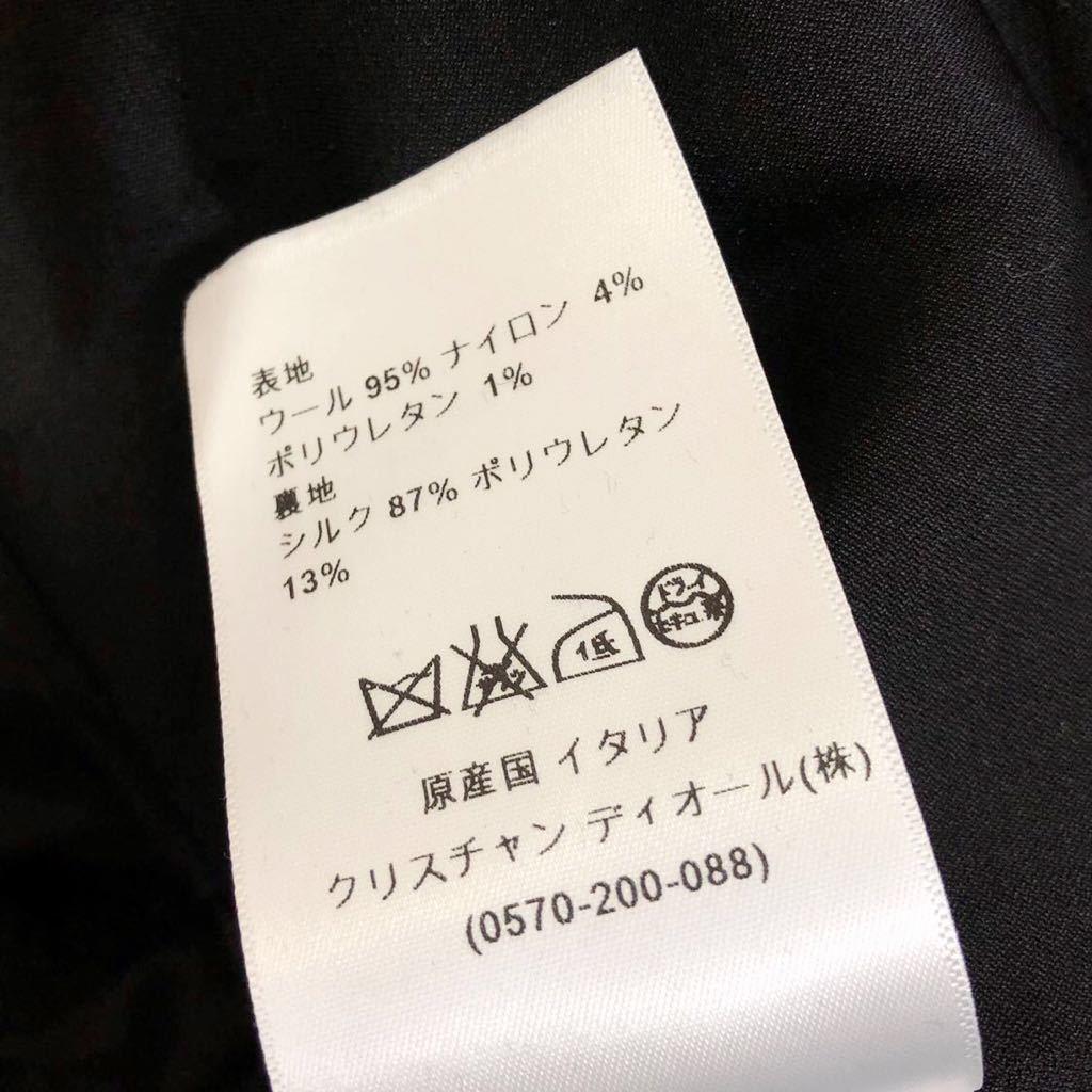 Christian Dior ディオール ストレッチ ウール チェスター ロング コート 裏地シルク 通年素材 size40 S~M位 黒 イタリア製 国内正規品_画像10