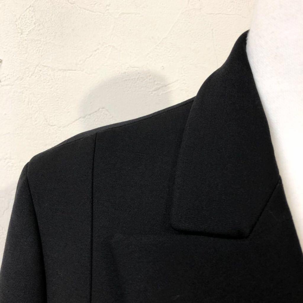 Christian Dior ディオール ストレッチ ウール チェスター ロング コート 裏地シルク 通年素材 size40 S~M位 黒 イタリア製 国内正規品_画像6