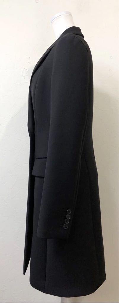 Christian Dior ディオール ストレッチ ウール チェスター ロング コート 裏地シルク 通年素材 size40 S~M位 黒 イタリア製 国内正規品_画像3