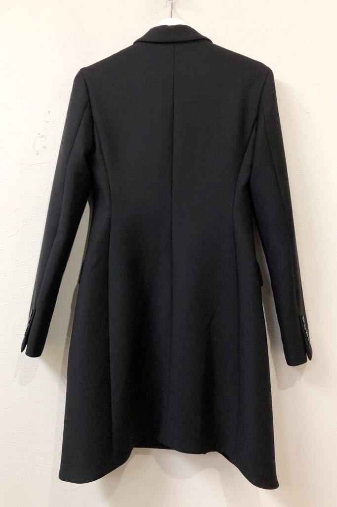 Christian Dior ディオール ストレッチ ウール チェスター ロング コート 裏地シルク 通年素材 size40 S~M位 黒 イタリア製 国内正規品_画像5