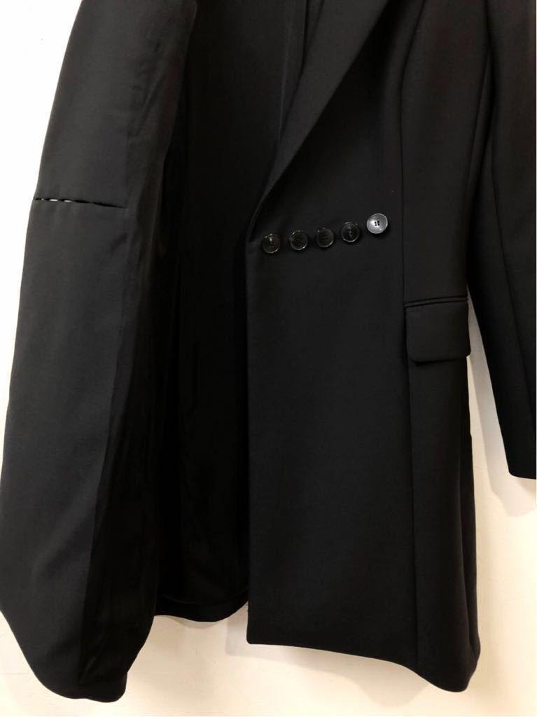 Christian Dior ディオール ストレッチ ウール チェスター ロング コート 裏地シルク 通年素材 size40 S~M位 黒 イタリア製 国内正規品_画像7