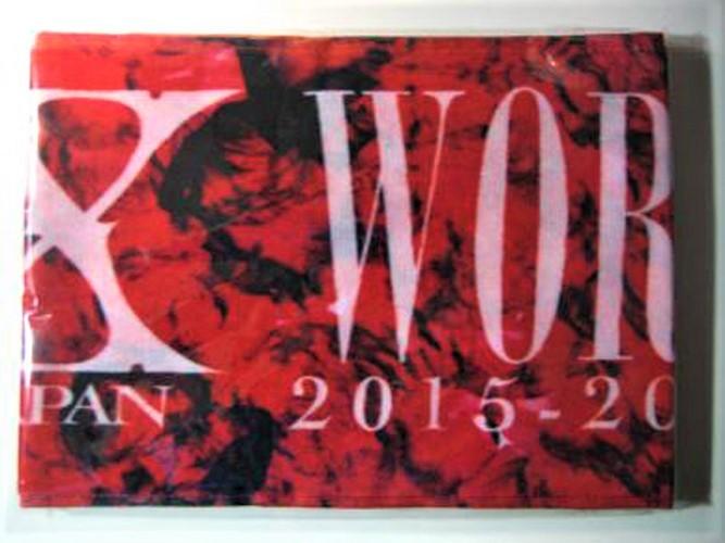 エックスジャパン/ヨシキ【X JAPAN/YOSHIKI】~X JAPAN WORLD TOUR 2015-2016 IN JAPAN 公式海外グッズ~マフラータオル/レッド☆未開封品_画像3