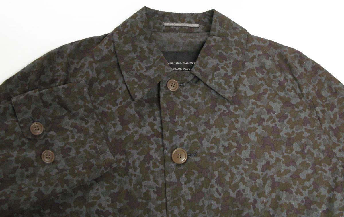 ギャルソン プリュス : 迷彩柄 薄手 コート 未使用品 ( 1997 初期 レア COMME des GARCONS HOMME PLUS vintage coat_画像3