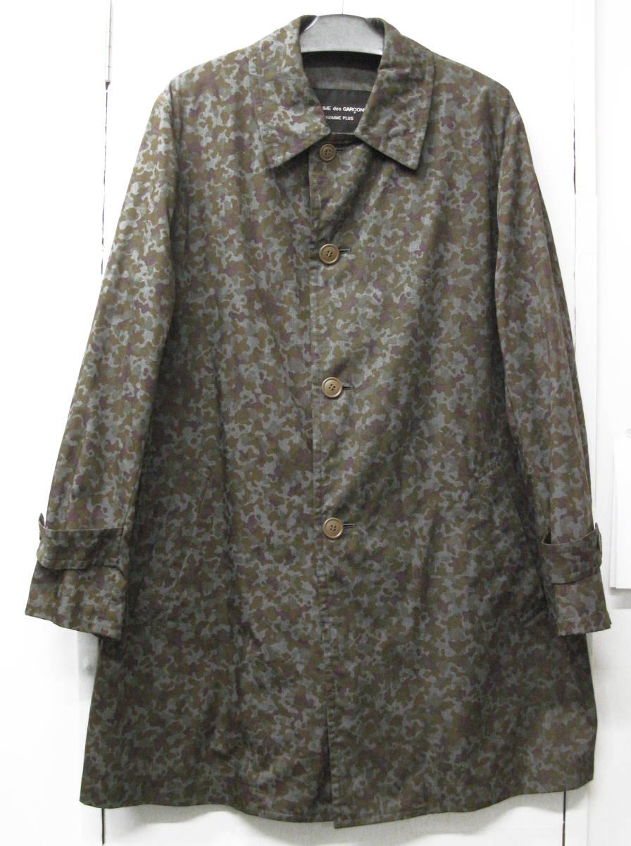 ギャルソン プリュス : 迷彩柄 薄手 コート 未使用品 ( 1997 初期 レア COMME des GARCONS HOMME PLUS vintage coat_画像1