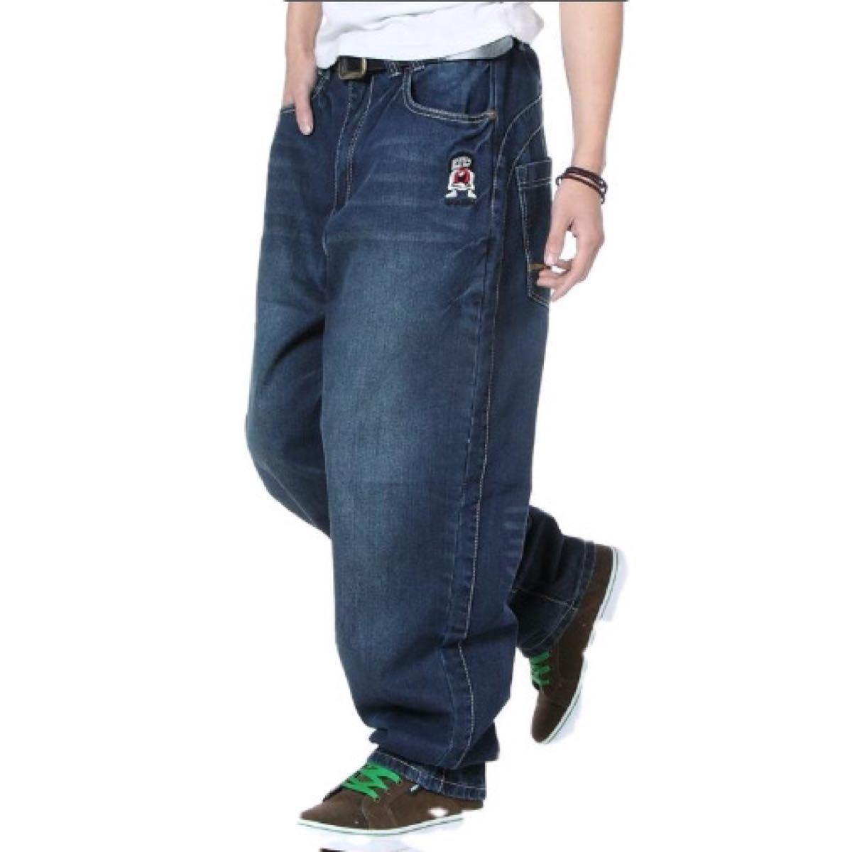メンズ パンツ デニム ジーンズ バギーパンツ ストリート 大きいサイズ 42