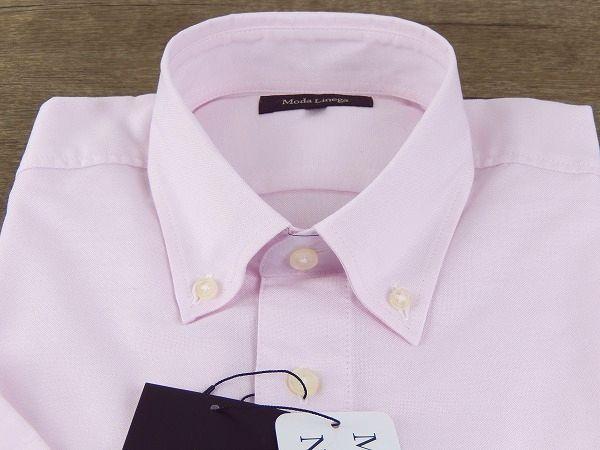 B7849 新品 正規品★Moda Linega モーダリネガ★S ピンク 半袖BDシャツ オックスフォード 日本製 春夏 メンズ_画像5