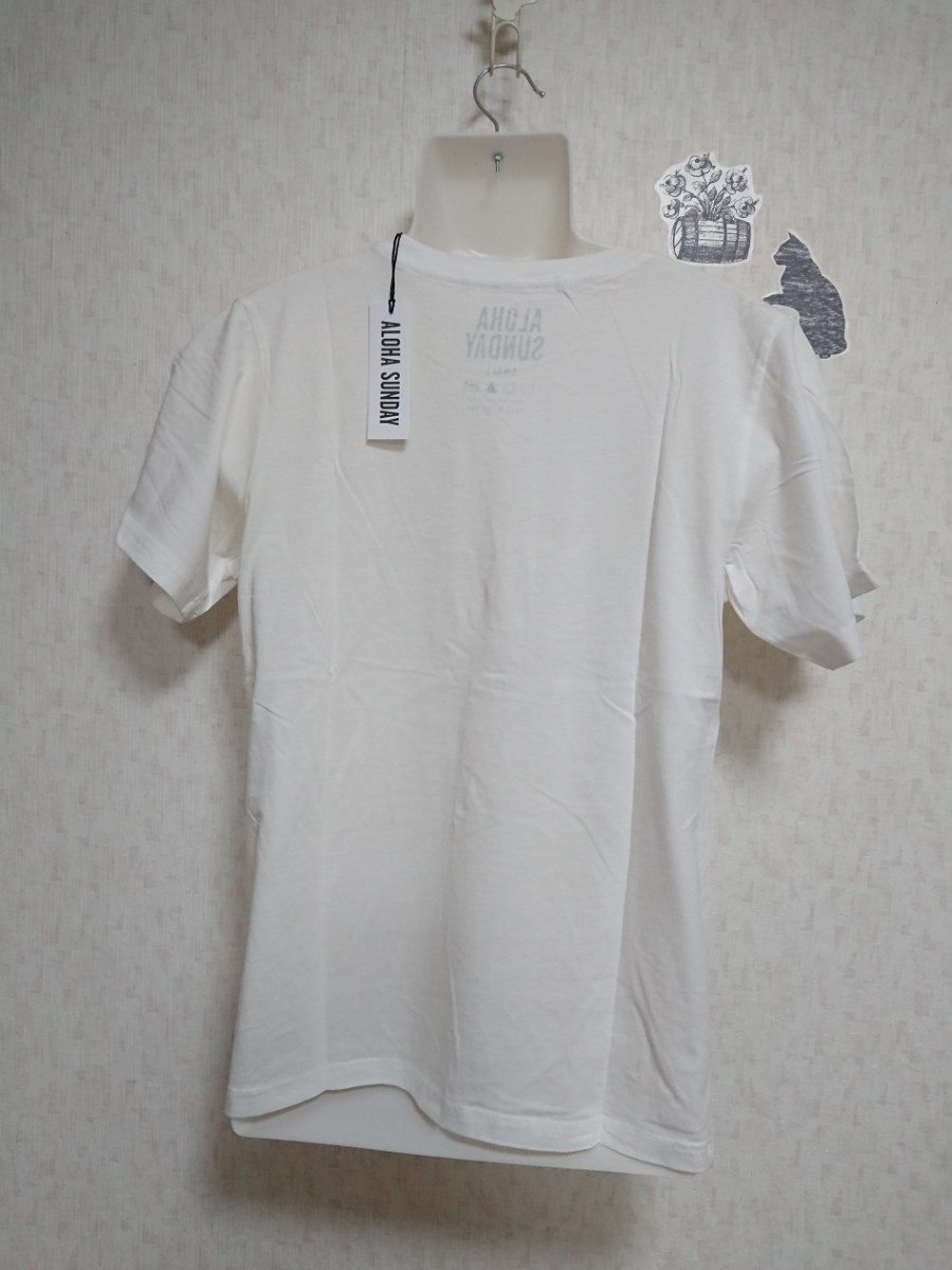【S】ALOHA SUNDAY ロゴTシャツ(ホワイト)
