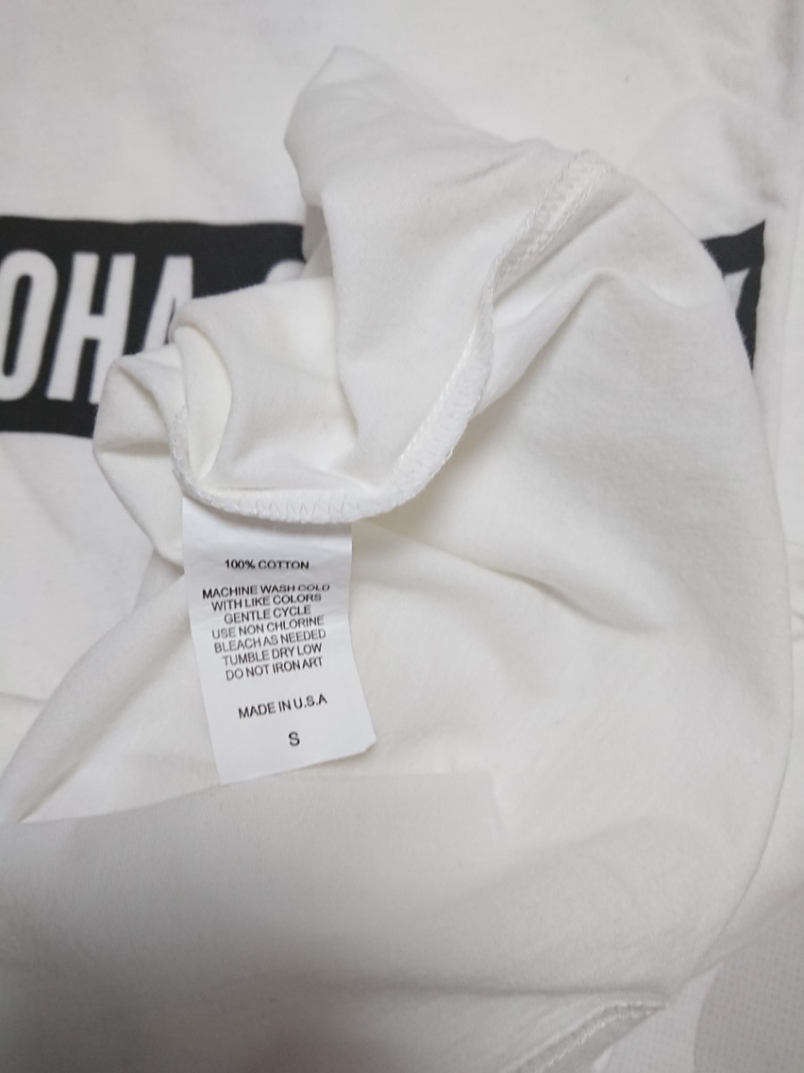 【S】 ALOHA SUNDAY ロゴTシャツ(ホワイト)