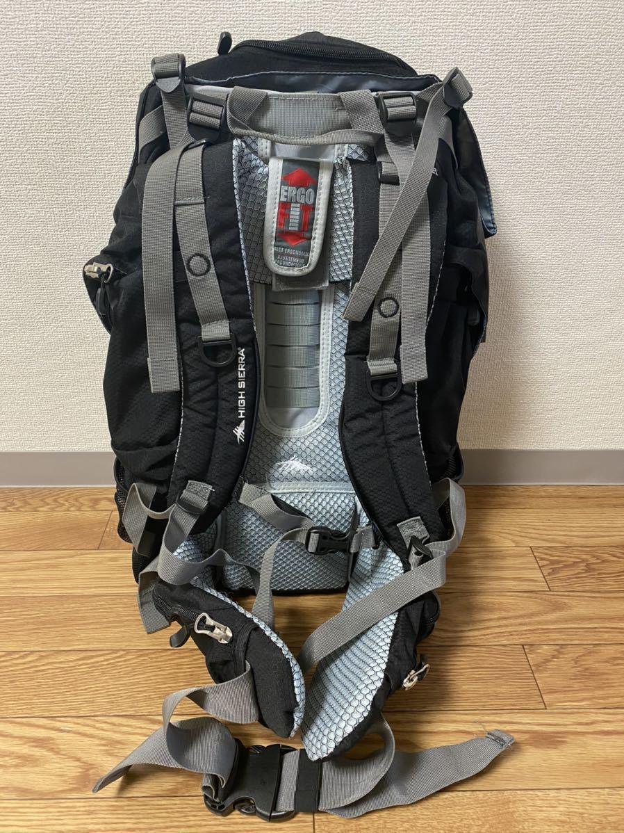 ハイシェラ 高機能 バックパック 黒 AVENGER 45L レインカバー付 大容量 数量限定特価
