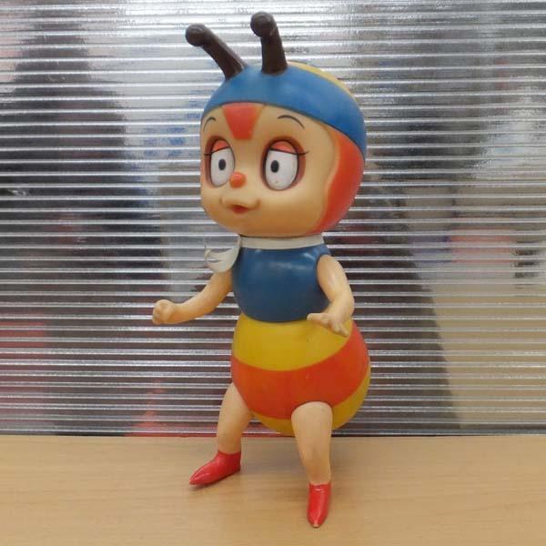 当時品 昆虫物語 みなしごハッチ ソフビ人形 全高21cm 鳴き笛 タツノコプロ 札幌_画像1