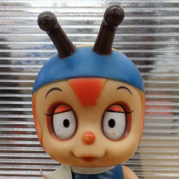 当時品 昆虫物語 みなしごハッチ ソフビ人形 全高21cm 鳴き笛 タツノコプロ 札幌_画像3