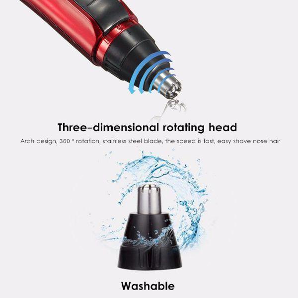 エチケットカッター 鼻毛カッター 電動カッター 携帯 耳 眉 鼻 持ち運び 先端防水 丸洗い 安全 男性 女性 デザイン 防水 清潔 乾電池付き