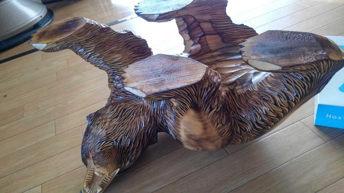 ★大サイズ 木彫りの熊 木彫置物 北海道 古民芸 民芸品 彫刻 ヒグマ 熊の木彫り_画像4
