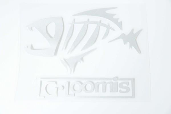 新品 G.Loomis ジールーミス PVC素材 ステッカー シルバー 約13cm x 10cm 送料84円~ 同梱可能_画像1