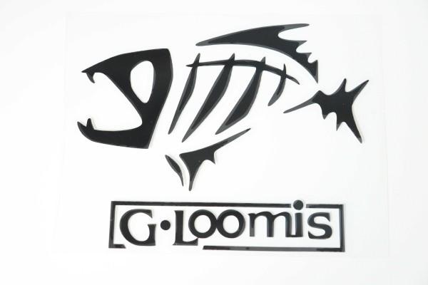 新品 G.Loomis ジールーミス PVC素材 ステッカー ブラック 約13cm x 10cm 送料84円~ 同梱可能 複数有_画像1