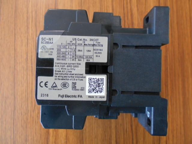 標準形電磁接触器 富士電機 SC-N1 SC25BAA (中古品)_画像3