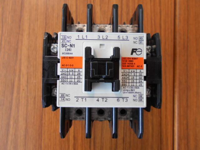 標準形電磁接触器 富士電機 SC-N1 SC25BAA (中古品)_画像2