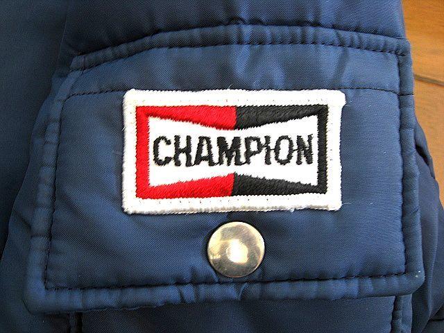 1970's CHAMPION チャンピオン スパークプラグ ビンテージ 中綿 レーシング Mサイズ 検 FIRESTONE テンダーロイン BELL 500 ハーレー BUCO_画像5