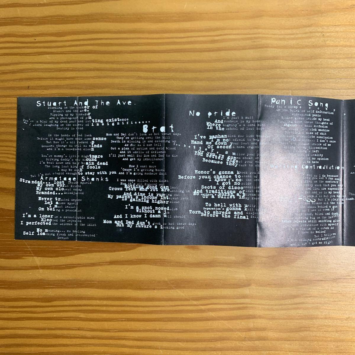 Green Day「Insomniac」カセットテープ 輸入盤 海外限定 入手困難 グリーンデイ Winston Smith コラージュ 90's レコード 名盤 RARE!!_画像5