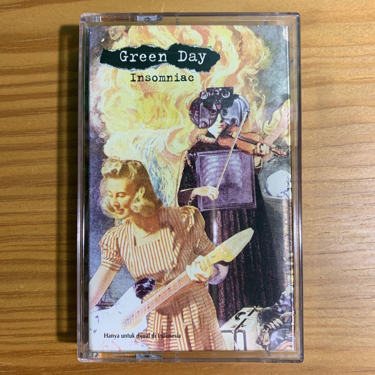 Green Day「Insomniac」カセットテープ 輸入盤 海外限定 入手困難 グリーンデイ Winston Smith コラージュ 90's レコード 名盤 RARE!!_画像1