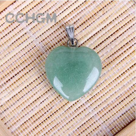 A0067:ファッション 混合色 天然石 クリスタル チャーム ペンダント ハートペンダント ジュエリー 作り良い ネックレス_カラー2