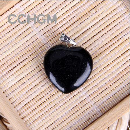 A0067:ファッション 混合色 天然石 クリスタル チャーム ペンダント ハートペンダント ジュエリー 作り良い ネックレス_カラー4