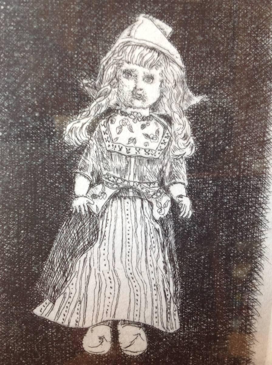 真作保証 駒井哲郎 銅版画 1966年作 西洋人形 限定200部 作家略歴付き_画像5