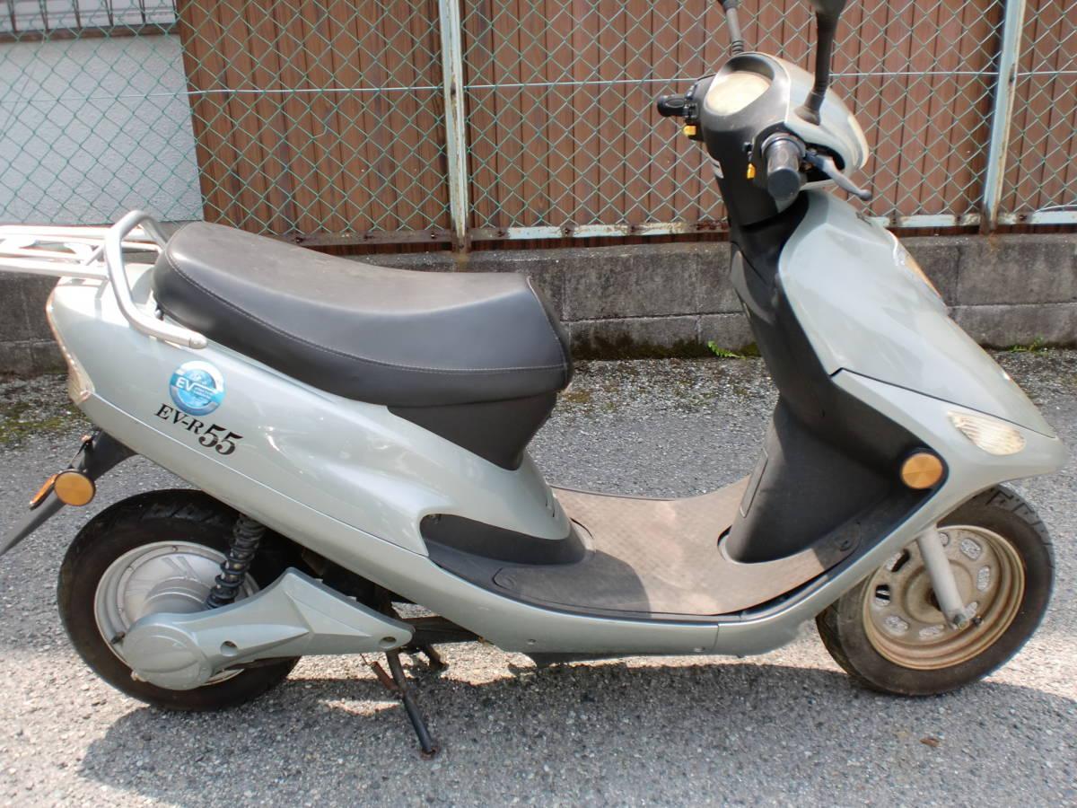 「EV-R55・電動バイク・Rrozza・キーなし 不動車 ジャンク 3N」の画像1