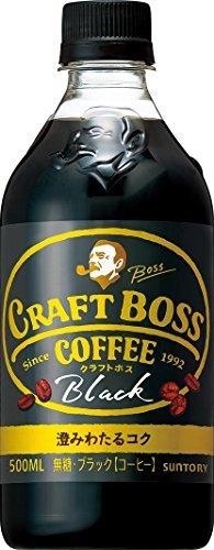 サントリー コーヒー クラフトボス 無糖ブラック 500ml×24本_画像1