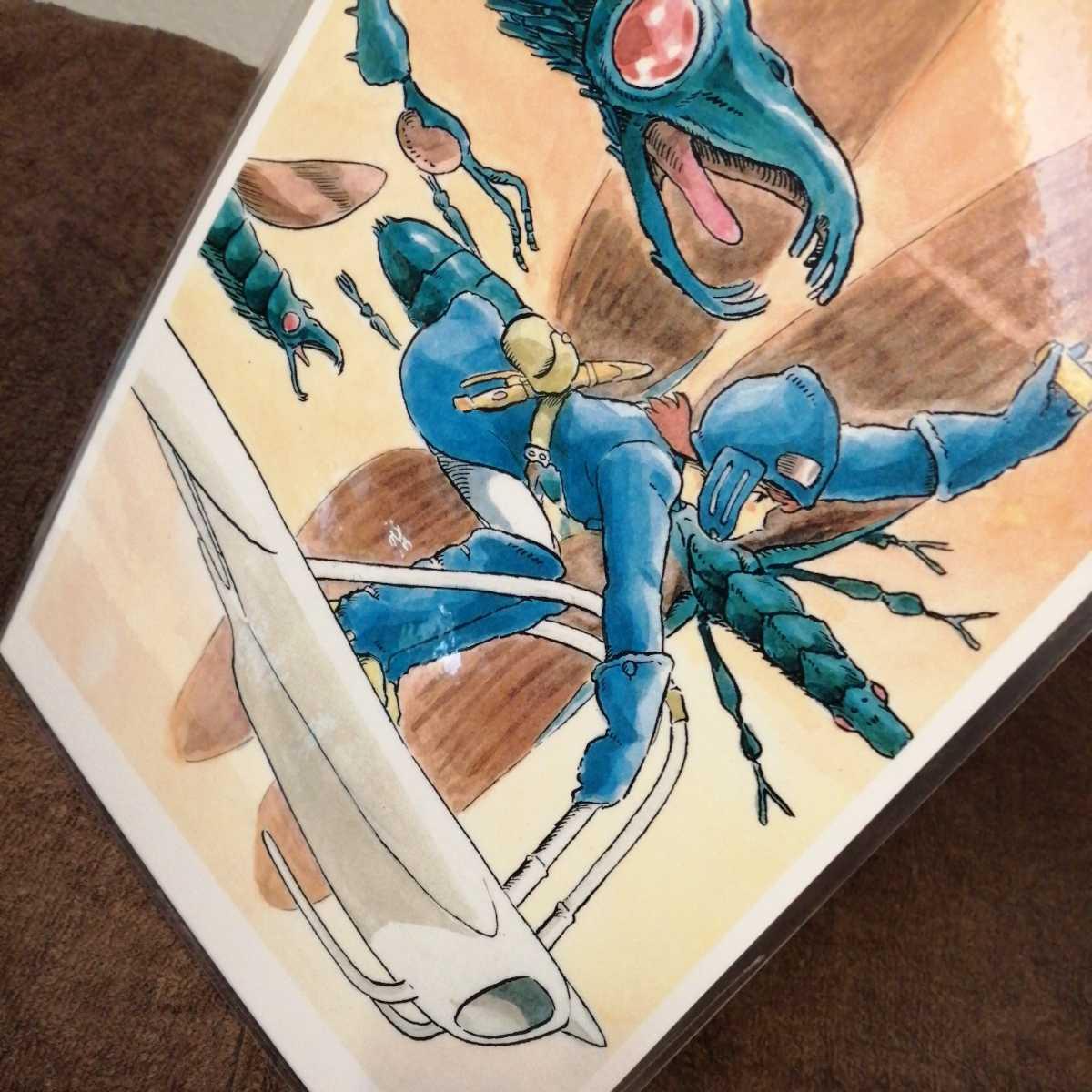 スタジオジブリ 風の谷のナウシカ ジブリカード ナウシカイラスト画 ラミネートカード パネル ポストカード ポスター 宮崎駿v_画像1