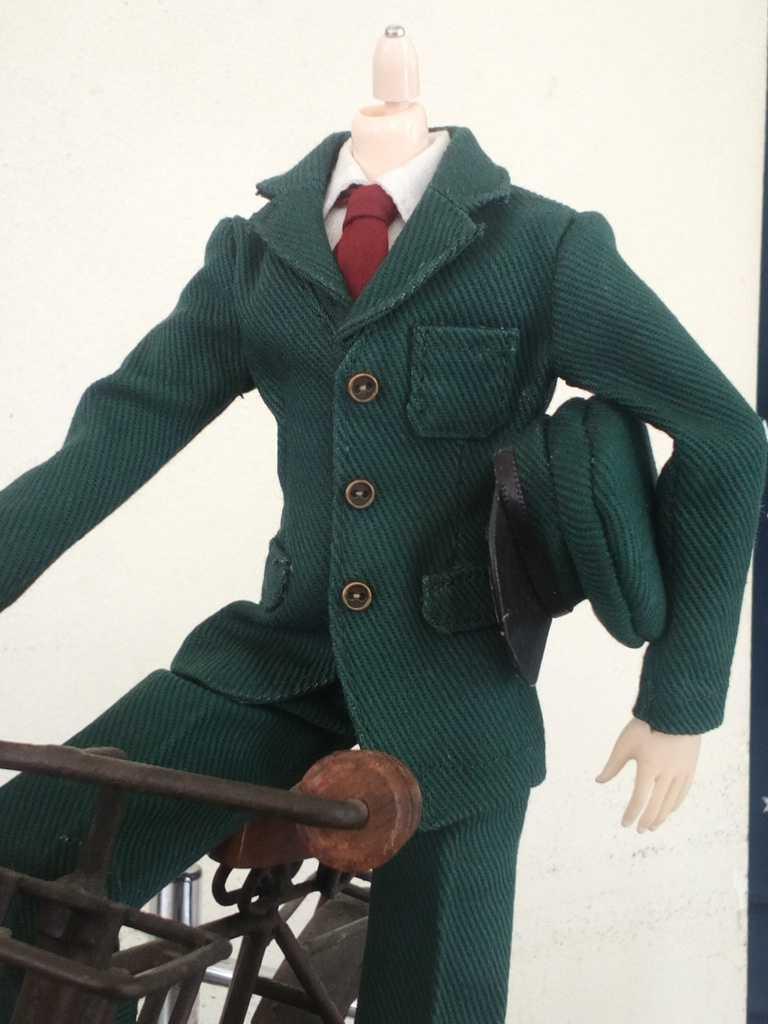 1/6サイズ人形用 郵便配達夫風 制服セット オビツ メンズ 27スリムボディ等に 男性用